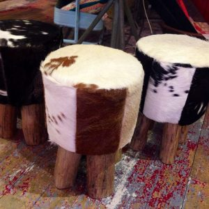 Cow Hide Stools