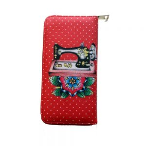 Retro Sewing Machine Wallet