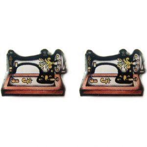sewing machine earrings