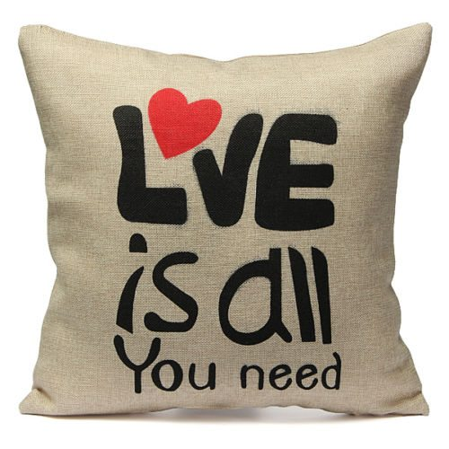 Quote Cushion - Love Is All You Need