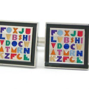 Alphabet Cufflinks