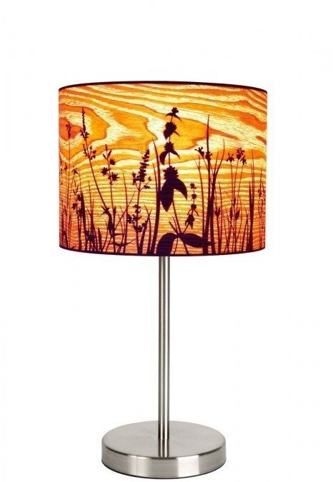 Wood shaving canvass look lampshade and light – Latest Bimbo Online Product