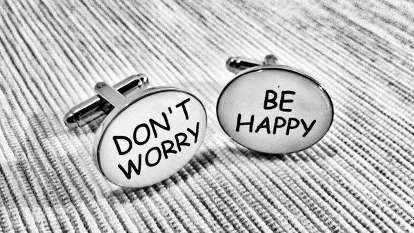 Don't worry be happy cufflinks