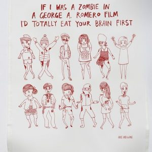 Tea Towel Zombie