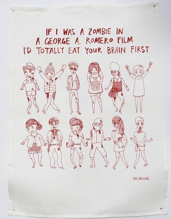 Tea Towel Zombie