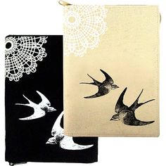 canvas notebook swallow