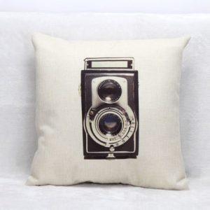 Vintage Retro Camera Cushion