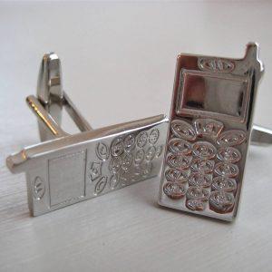 mobile phone cufflinks