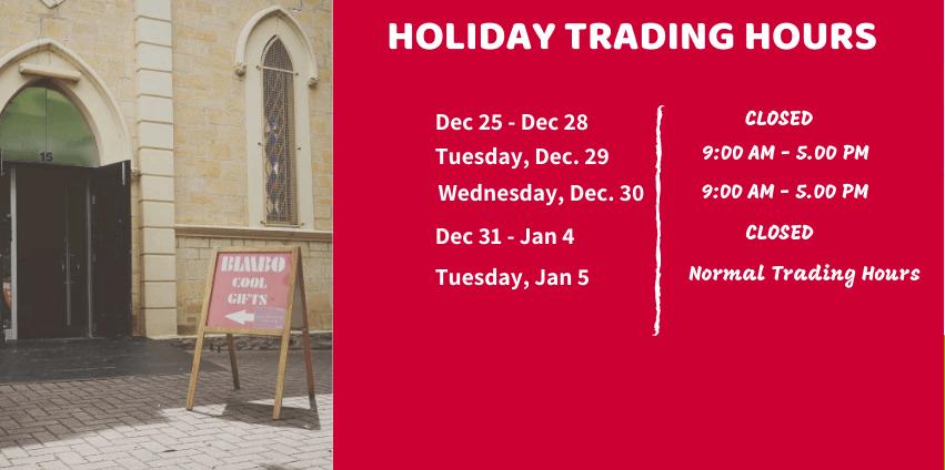 Christmas Trading Hours 2020